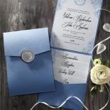 Graceful Wreath Pocket Wedding Invitation Card