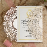 Ivory Doily Elegance Card