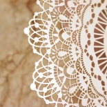 Ivory Doily Elegance Wedding Invite Design