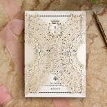 Ivory Doily Elegance with Foil Card Design