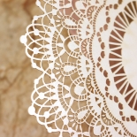 Ivory Doily Elegance with Foil Invite