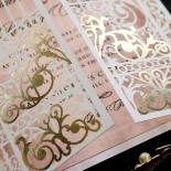 Ivory Victorian Gates Wedding Card Design