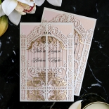 Ivory Victorian Gates Wedding Invitation Card Design