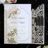 Ivory Victorian Gates with Foil Invite Card Design