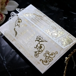 Ivory Victorian Gates with Foil Card Design