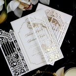 Ivory Victorian Gates with Foil Wedding Invite