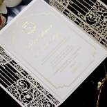 Ivory Victorian Gates with Foil Invite Card