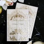 Ivory Victorian Gates with Foil Invite