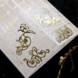 Ivory Victorian Gates with Foil Invitation Card Design