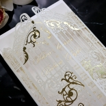 Ivory Victorian Gates with Foil Invitation Design