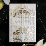 Ivory Victorian Gates with Foil Wedding Invitation Card Design