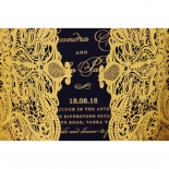 Lux Royal Lace with Foil Invite Design