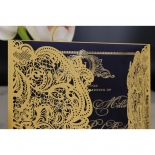 Lux Royal Lace with Foil Wedding Card Design