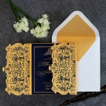 Lux Royal Lace with Foil Wedding Invite Card Design