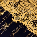 Lux Royal Lace with Foil Wedding Invite Design