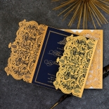 Lux Royal Lace with Foil Invitation Card Design