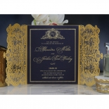 Lux Royal Lace with Foil Invitation Design