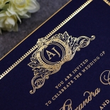Lux Royal Lace with Foil Wedding Invitation Design