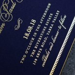 Lux Royal Lace with Foil Wedding Invitation Card Design