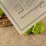 Luxe Acrylic Elegance Invite Design