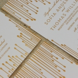 Luxe Intrigue Wedding Invite Card Design