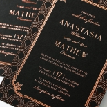 Luxe Victorian Wedding Invite Card