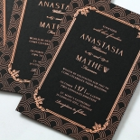 Luxe Victorian Wedding Card