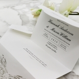Modern Vintage Wedding Invitation Card