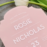 Pink Chic Charm Acrylic Invitation Card Design