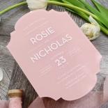 Pink Chic Charm Acrylic Invitation Design