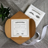 Playful Love Wedding Invite Card Design