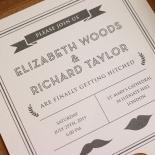 Playful Love Wedding Invite Design
