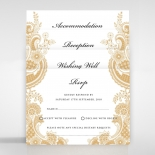 Prosperous Golden Pocket Invite Card Design