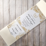 Prosperous Golden Pocket Wedding Invite