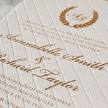 Quilted Letterpress Elegance Invite Card