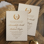 Quilted Letterpress Elegance Invitation Card