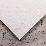 Regal Charm Letterpress Wedding Invite Card