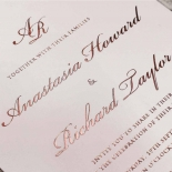 Regal Charm Letterpress Wedding Invite