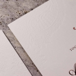 Regal Charm Letterpress Invite Card