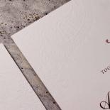 Regal Charm Letterpress Invite Card