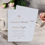 Regal Charm Letterpress Wedding Invitation Card