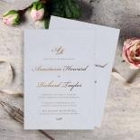 Regal Charm Letterpress Wedding Invitation Card