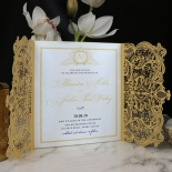 Royal Lace Wedding Card