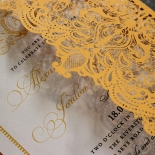 Royal Lace Wedding Invitation Design