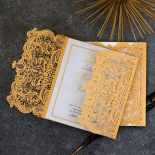 Royal Lace Wedding Invitation Card Design