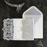 Royal Lace with Foil Invite Design