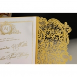 Royal Lace with Foil Wedding Invite Card