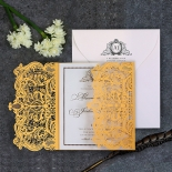 Royal Lace with Foil Invite Card Design