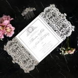 Royal Lace with Foil Wedding Invitation