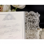 Royal Lace with Foil Wedding Invite Card Design
